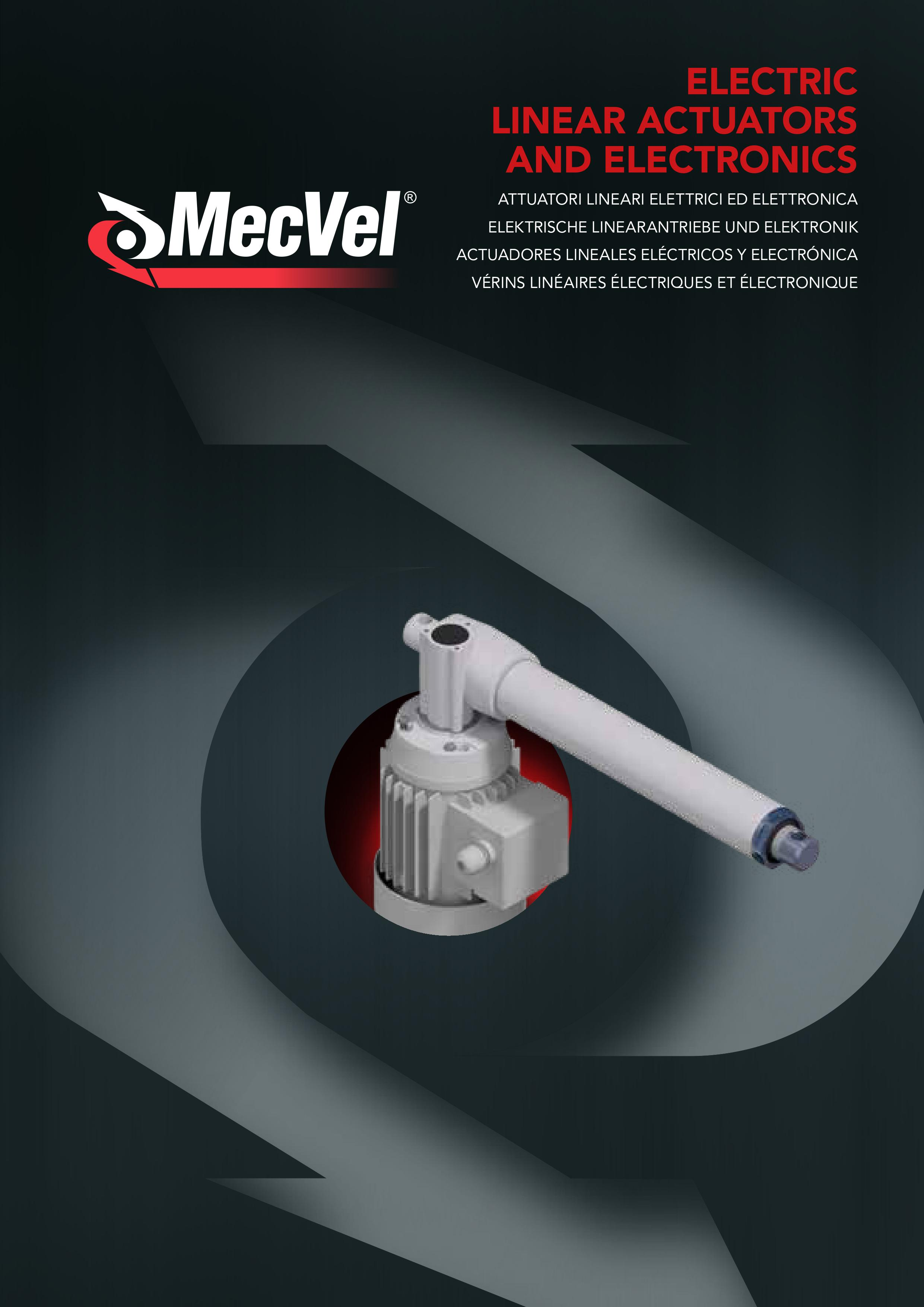 MecVel electric linear actuators range